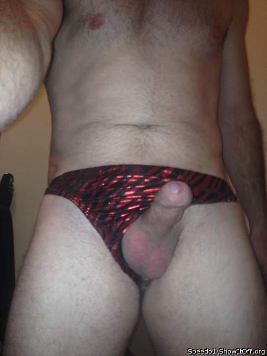 Hard cock in speedos the
